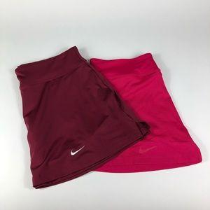 Lot of 2 Nike Dri Fit Skirt Tennis Skort Sz M